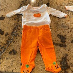 Little Pumpkin Infant Halloween Clothes